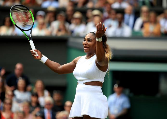 Serena Williams kon het vanmiddag niet bijbenen.