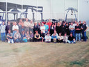 Een foto van het team van Polo Internationale, ergens in de jaren 90 voor het bedrijf in Aalter.