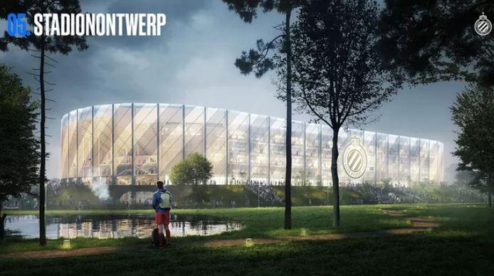 Voici le projet pharaonique du nouveau stade de football à Bruges.