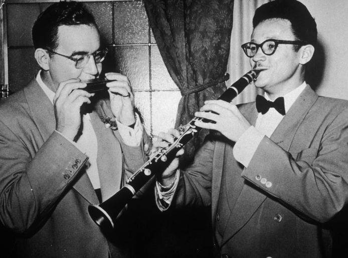 Benny Goodman (links) en Toots Thielemans.