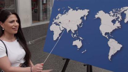 """""""Noem eender welk land op deze kaart"""": simpele aardrijkskundevraag veel te moeilijk voor deze Amerikanen"""