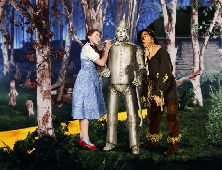 Judy Garland, Jack Haley & Ray Bolger in The Wizard of Oz (1939)