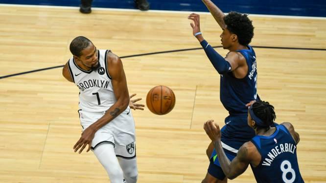 Brooklyn en Utah winnen in NBA, Durant grote uitblinker bij Nets