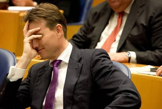 VVD-fractieleider Halbe Zijlstra tijdens de Algemene Politieke Beschouwingen in de Tweede Kamer