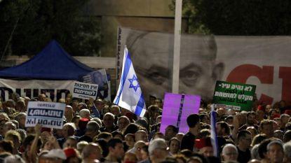 Duizenden Israëli's manifesteren tegen Netanyahu