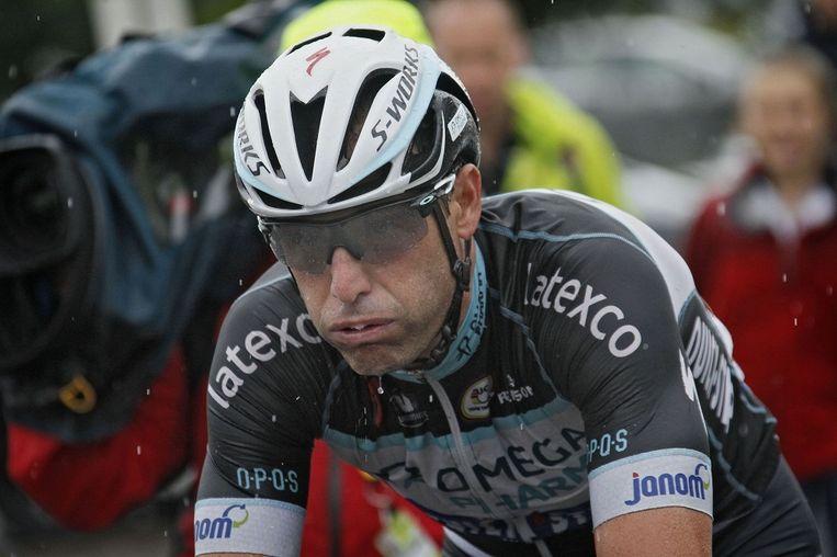 Alessandro Petacchi reed tussen 2013 en 2014 voor Omega Pharma-Quick.Step