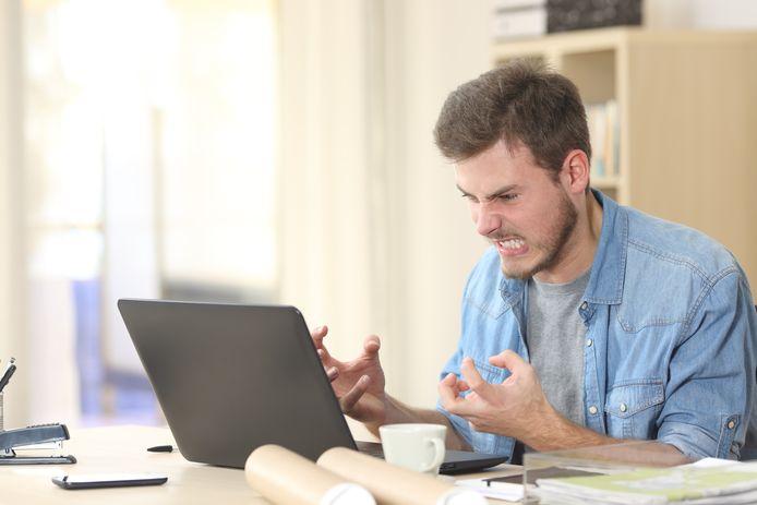 Studenten vonden online onderwijs vaak saai en ze konden de stof niet goed volgen. Foto ter illustratie.