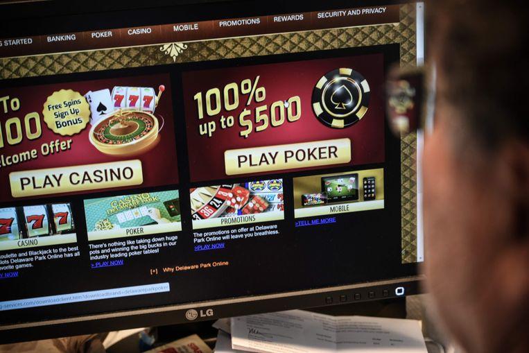 Een online gokspel. Vlamingen hebben in 2018 online 220 miljoen euro vergokt. Beeld AFP