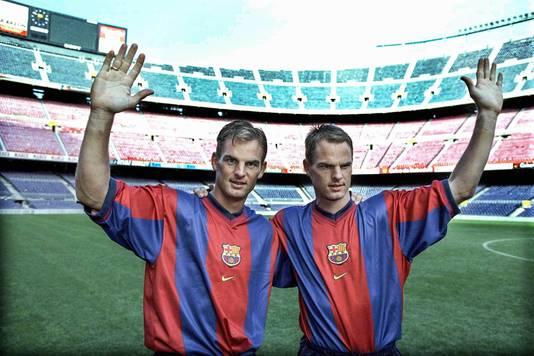 Ronald de Boer (links) en  Frank de Boer.
