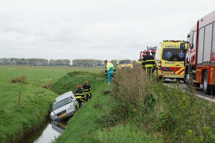 Ongeluk afrit A59 Dussen.