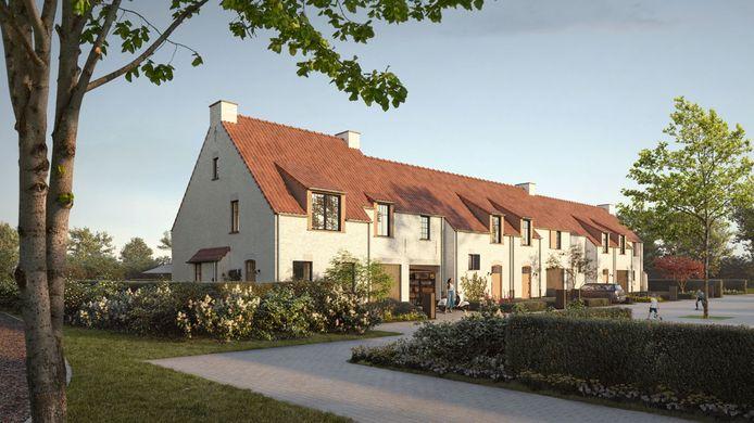 Een toekomstbeeld van de gloednieuwe woonwijk 'Fondatel'.