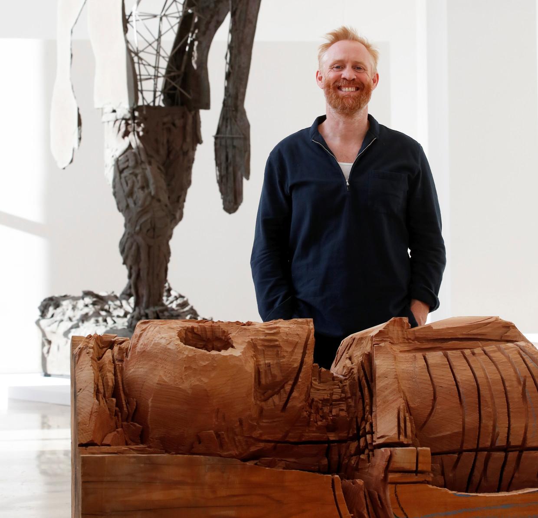 Thomas Houseago stelt tentoon in Brussel. Beeld BELGAIMAGE