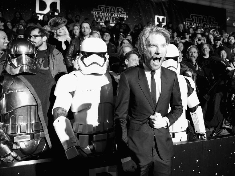 Domhnall Gleeson viel op als de briesende Generaal Hux in Star Wars: The Force Awakens (hier op de wereldpremière van de film in Hollywood). Beeld Getty Images for Disney