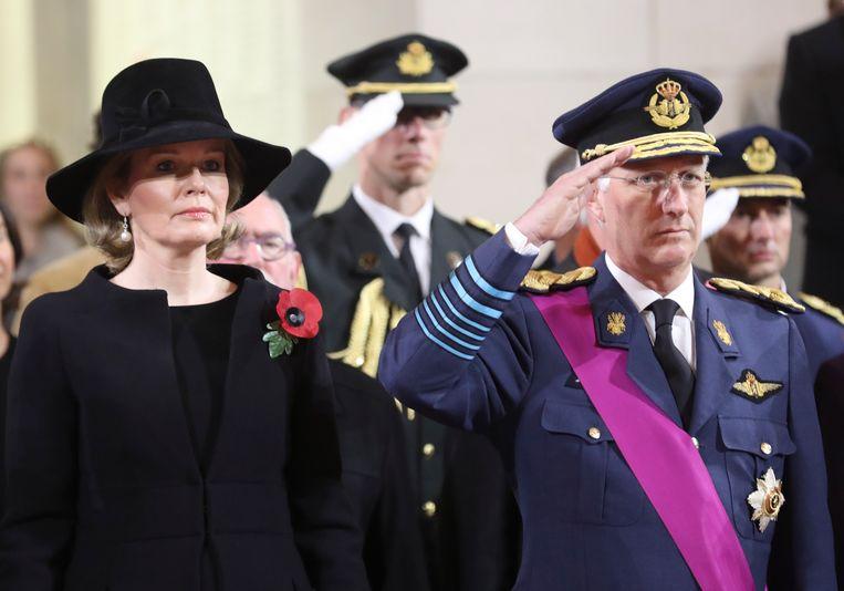 Koning Filip en prinses Mathilde