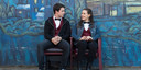 Hoofdpersoon Clay Jensen (gespeeld door Dylan Minnette) en Hannah Baker (Katherine Langford)