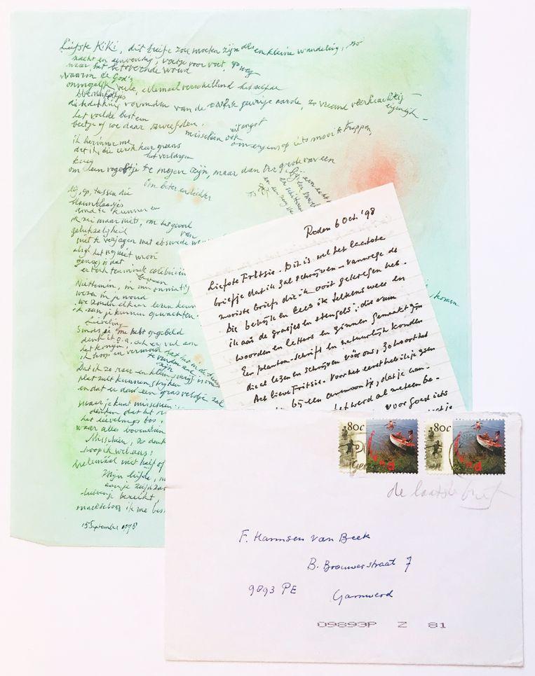 Veiling van brief van Fritzi Harmsen van Beek aan Vasalis in 1998. Plus antwoord van Vasalis, die tien dagen later zou overlijden. Beeld