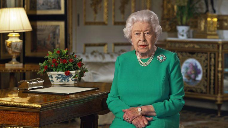 Ook Queen Elizabeth vergeleek de uitbraak van de coronacrisis met het begin van WO II. Beeld AFP