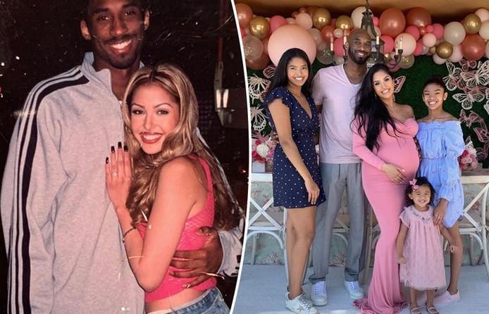 Kobe et Vanessa Bryant il y a 20 ans (à gauche), et au début de l'année dernière, alors que Vanessa était enceinte de leur plus jeune fille, Capri.