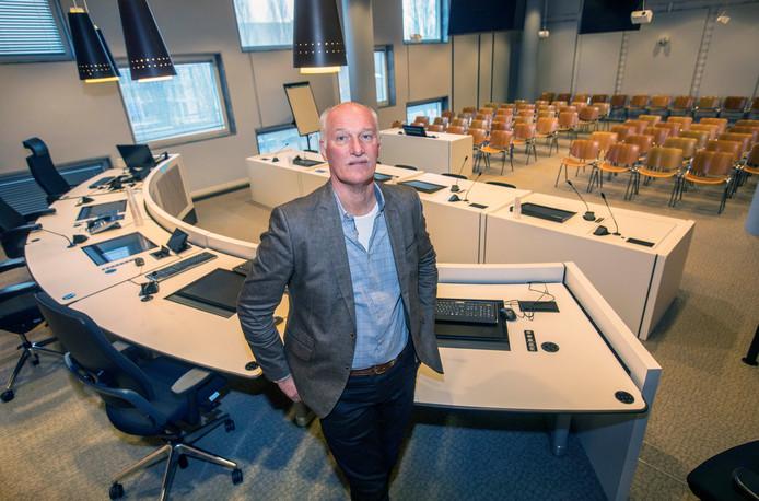 Cyberofficier van justitie Ed Hartjes in de rechtbank in Den Haag.