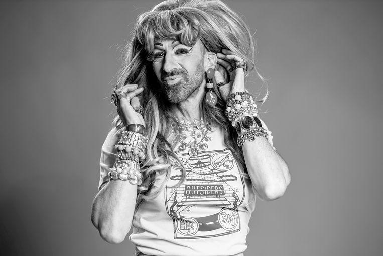 Jennifer Hopelezz is dragqueen, activist en mede-eigenaar van gay fetisjclub Church. Beeld Wessel de Groot