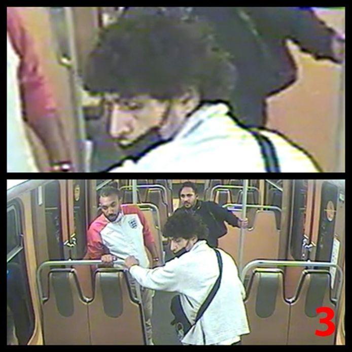 De drie werden samen gezien op de metro
