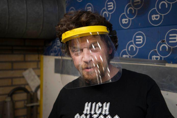 Het gezichtsmasker dat burgemeester Bruls graag in alle horecazaken in Nederland had gezien.