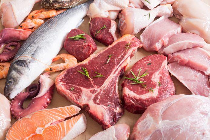 Luxere vis- en vleessoorten werden in 2020 meer in huis gehaald.