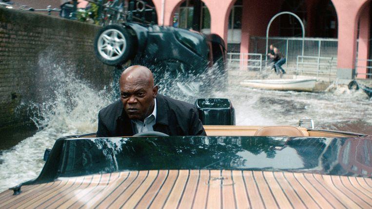 Samuel L. Jackson in The Hitman's Bodyguard van Patrick Hughes Beeld