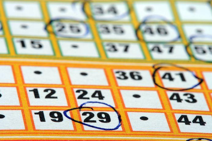 Een bingokaart, foto ter illustratie.
