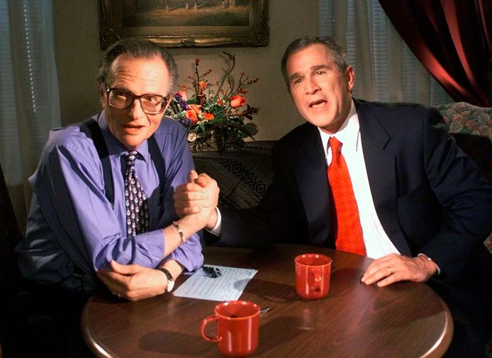 En 1996, Larry King recevait George Bush sur CNN.