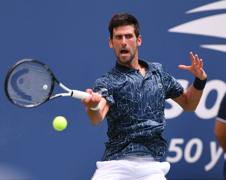, New York, NY - 20180828 - U.S. Open Tennis Championships 2018 at USTA Billie Jean King National Tennis Center.Fans try to stay cool during the hot weather.-PICTURED: Novak Djokovic-PHOTO by: INSTARimages.com This is an editorial, rights-managed image. Please contact Instar Images LLC for licensing fee and rights information at sales@instarimages.com or call +1 212 414 0207 This image may not be published in any way that is, or might be deemed to be, defamatory, libelous, pornographic, or obscene. Please consult our sales department for any clarification needed prior to publication and use. Instar Images LLC reserves the right to pursue unauthorized users of this material. If you are in violation of our intellectual property rights or copyright you may be liable for damages, loss of income, any profits you derive from the unauthorized use of this material and, where appropriate, the cost of collection and/or any statutory damages awarded        PICTURE NOT INCLUDED IN THE CONTRACT. ! Only BELGIUM! Beeld Photo News