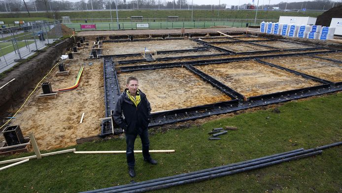 Ook op het complex De Woerd in Driebergen, waar gebouwd wordt voor het nieuwe clubhuis van Dalto, zijn problemen