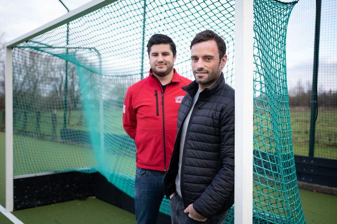Sebastien Dockier, aanvaller bij de Red Lions, heeft een groot deel van zijn jeugdopleiding voor Mechelse hockeyclub KMTHC gespeeld. Met voorzitter Alexander Algoet op archiefbeeld.