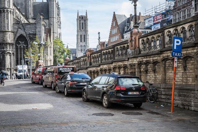 Taxi's in Gent, momenteel is het rustig in de sector