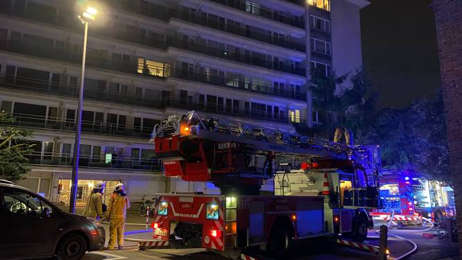 """Brandweer heeft brand op terras van dakappartement snel onder controle: """"Overslag naar flat kunnen vermijden"""""""