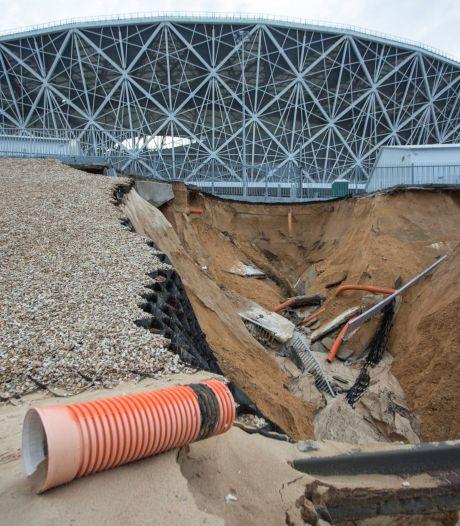 WK-stadion in Volgograd getroffen door zware regen