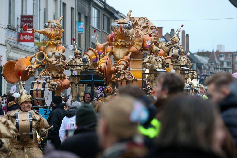 De parade in Aalst. Beeld BELGA