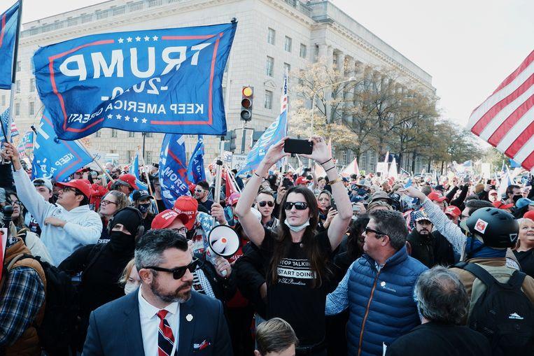 Betogers op de mars. Beeld EPA