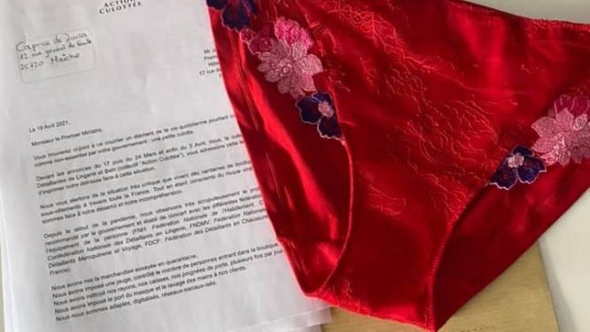 Boze lingeriewinkeliers sturen Franse premier 80 slipjes