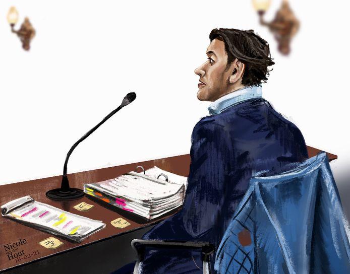 Verdachte Sharied S. in de rechtbank. Sharied S. wordt verdacht van het vermoorden van zijn vriendin in Suriname, in juni 2015. Het OM denkt dat hij haar in de Surinamerivier heeft geduwd.