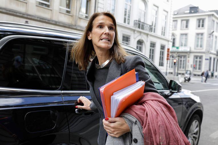Federaal begrotingsminister Sophie Wilmès (MR). Beeld BELGA