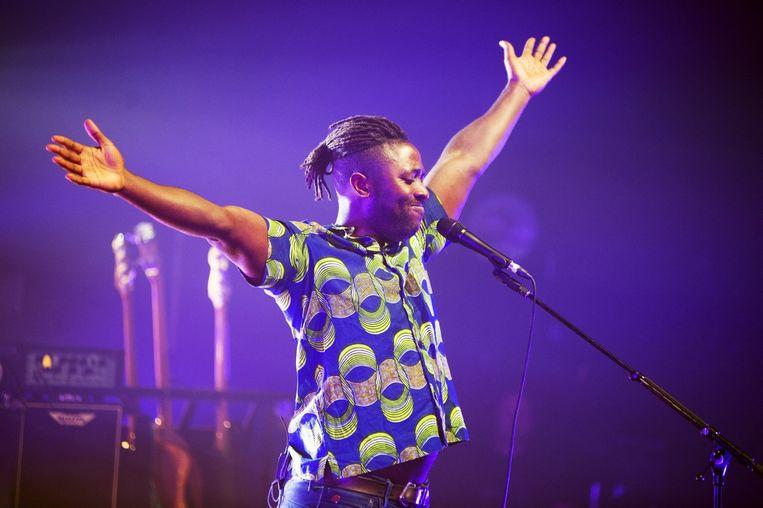 Kele presenteert trots Bloc Party 2.0 in het Koninklijk Circus. Beeld Alex Vanhee