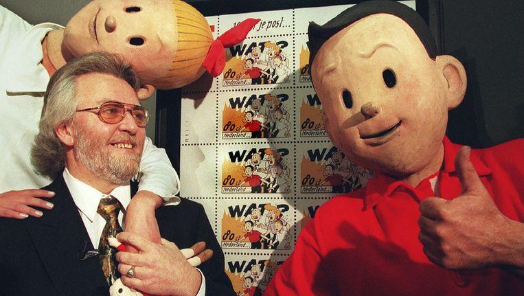 Suske en Wiske met hun tekenaar Paul Geerts Beeld ANP