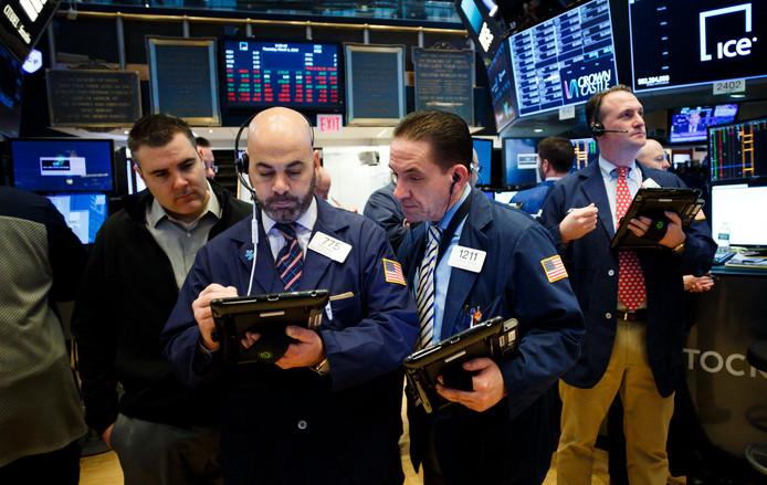 Beurshandelaren op Wall Street, waar Spotify dit voorjaar een notering krijgt.