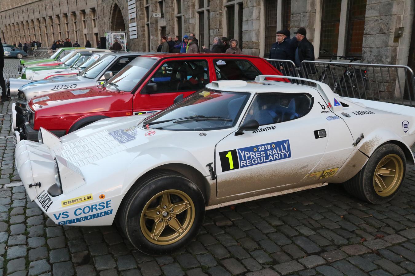 Aan de Ypres Historic Regularity namen vorig jaar mooie bolides deel, zoals deze Lancia Stratos.