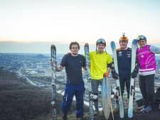 Privés de ski, ces Belges trouvent la solution en descendant les terrils à Charleroi