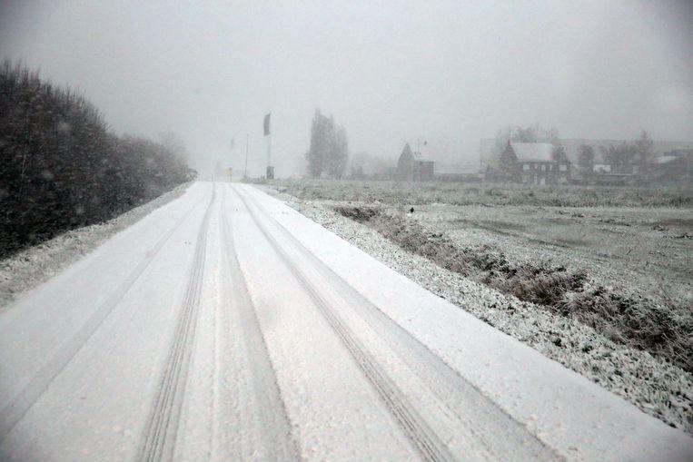 Sneeuw in Ledegem (archieffoto).