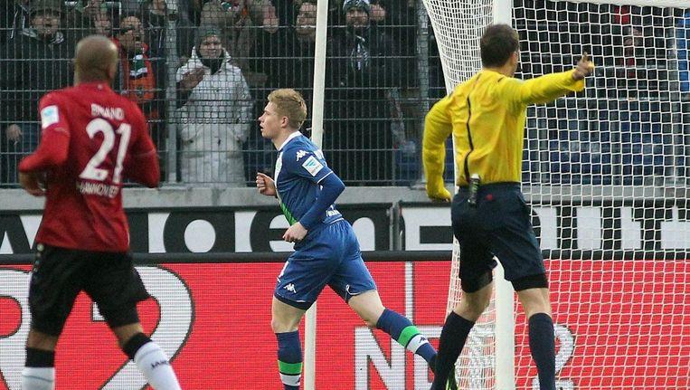 De Bruyne schoot al raak na amper drie minuten. Beeld PHOTO_NEWS