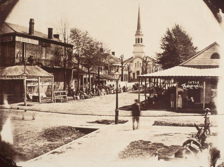 Baton Rouge, Louisiana, ca. 1865.     Beeld Corbis via Getty Images