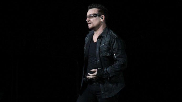 U2-zanger Bono, een van de initiatiefnemers achter de oproep. Beeld bruno